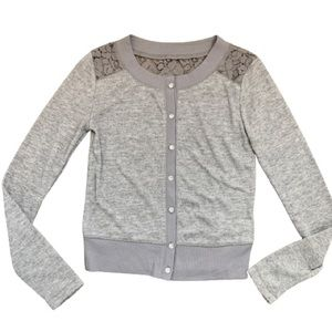 Cardigan Sweater with Lace